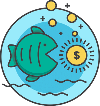 fish eating money