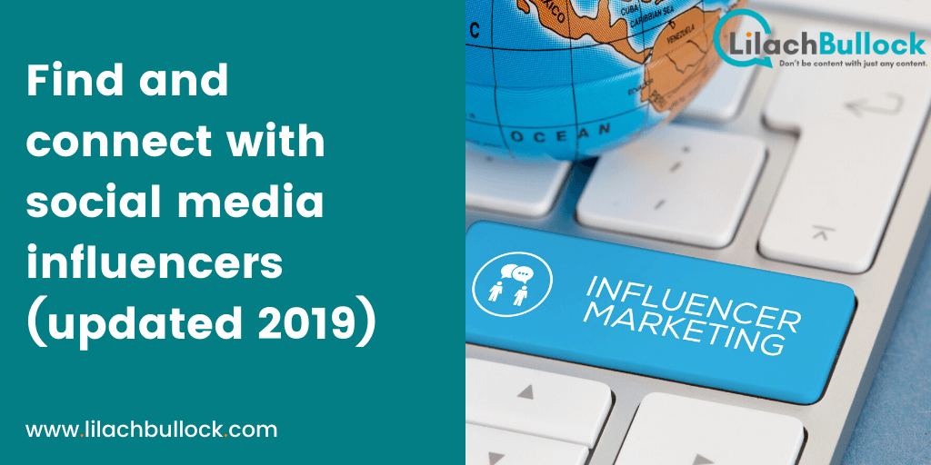 Find and connect with social media influencers (updated 2019)