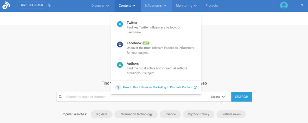 buzzsumo influencer outreach