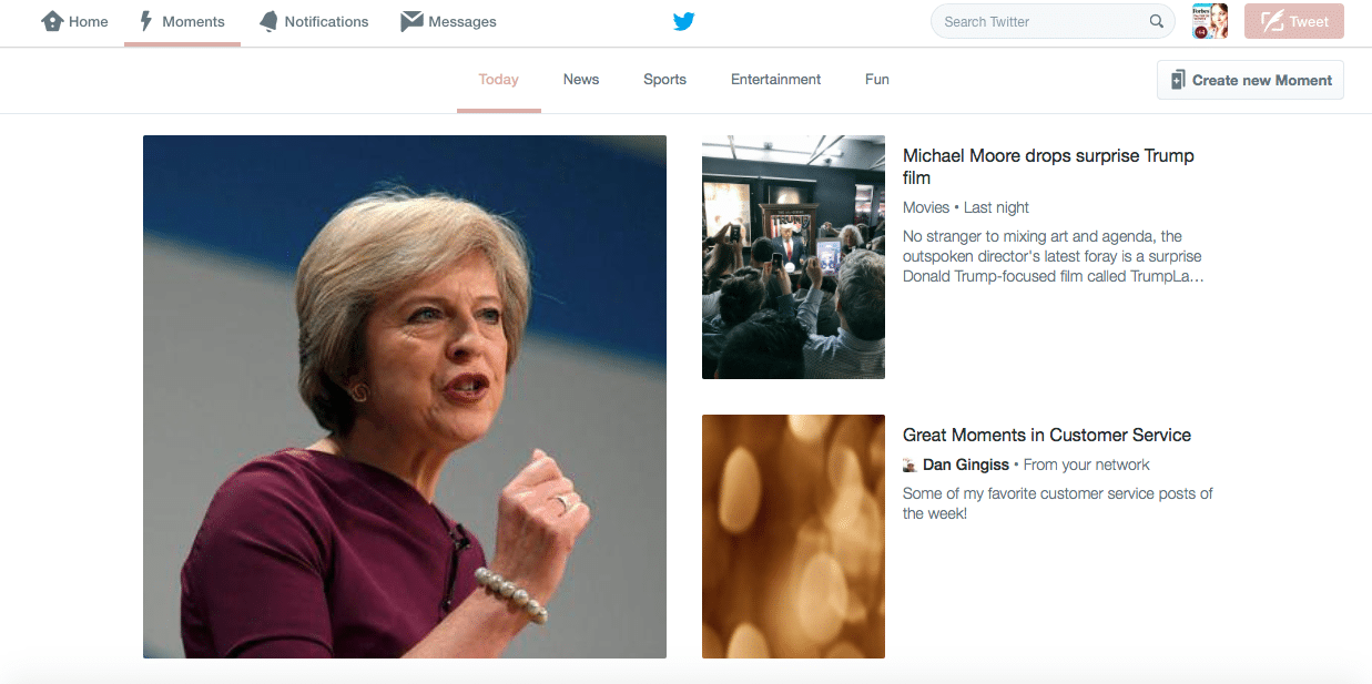 How to create a Twitter Moment