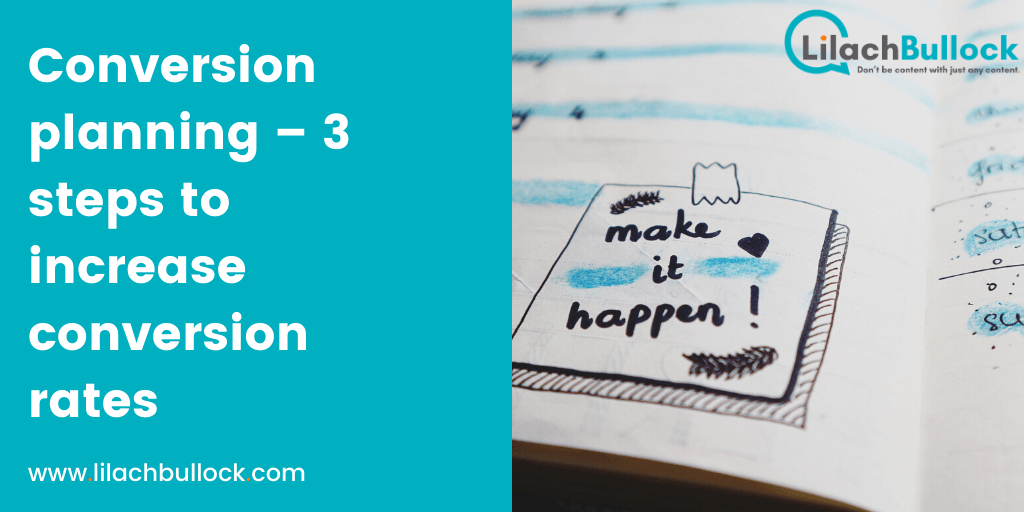 Conversion planning – 3 steps to increase conversion rates
