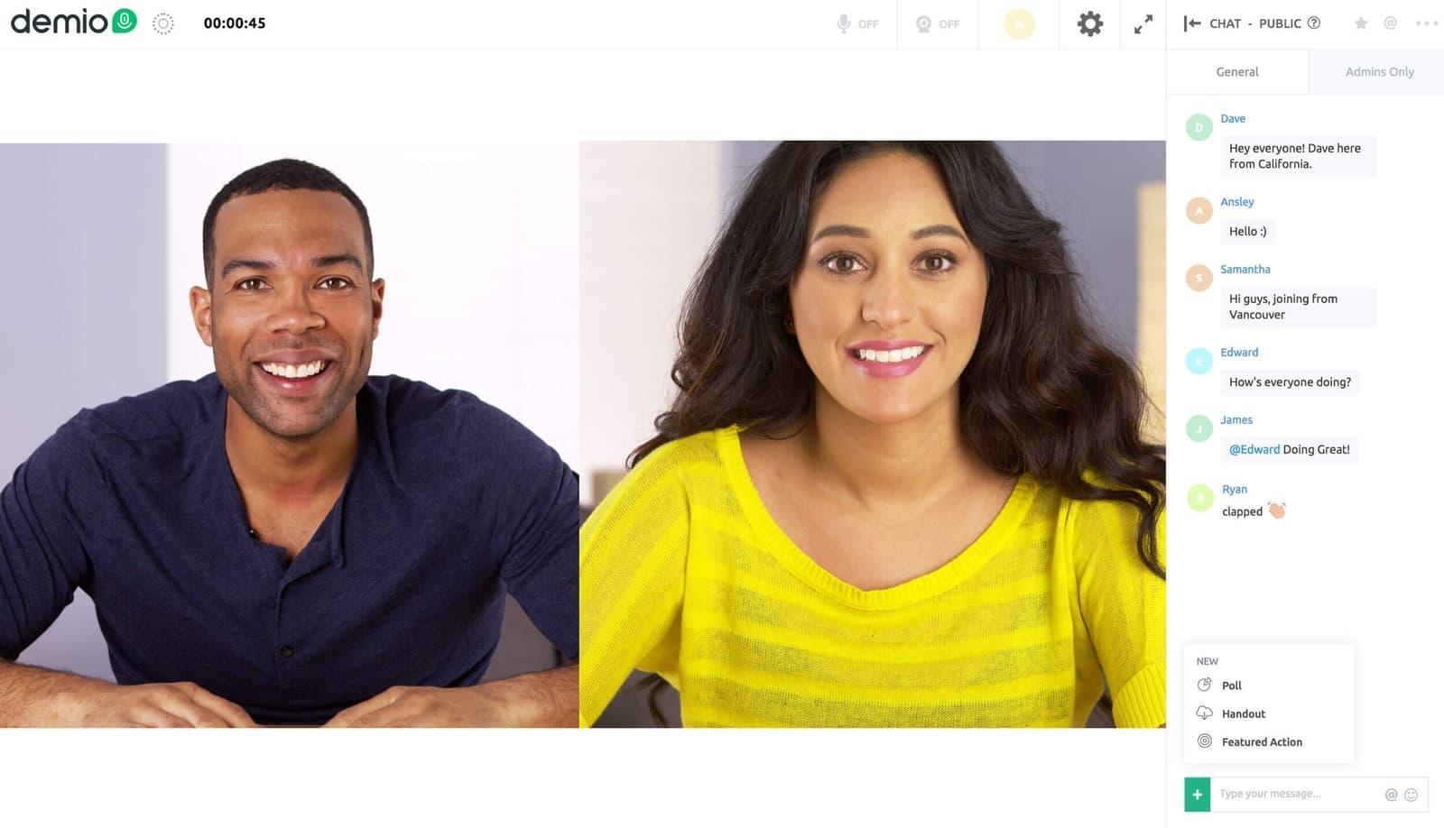 demio webinar screenshot