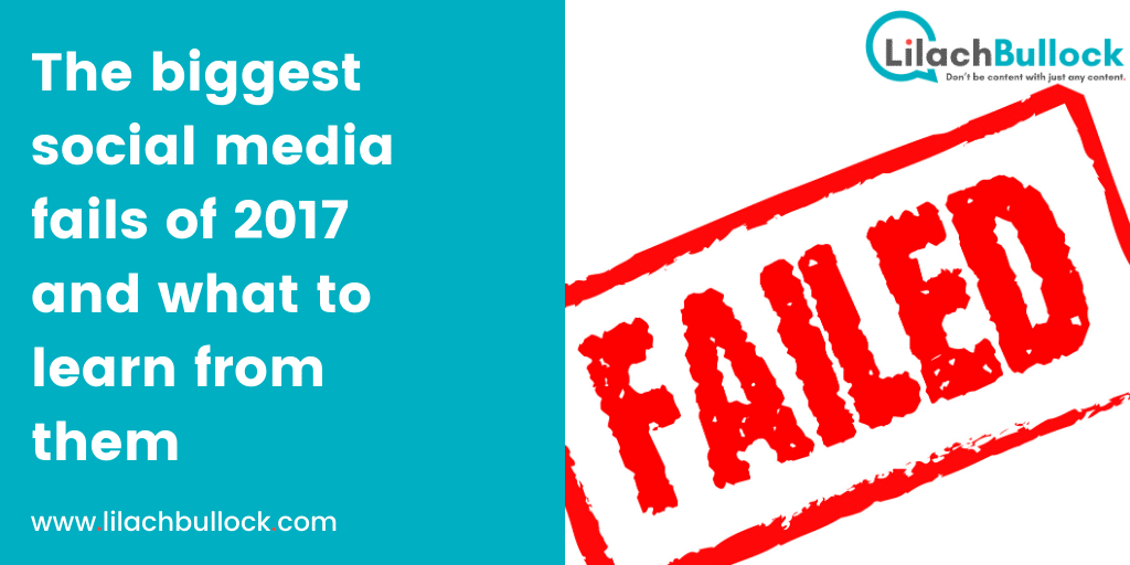 The biggest social media fails of 2017