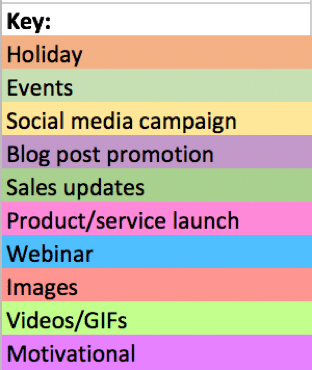 how to create a social media calendar