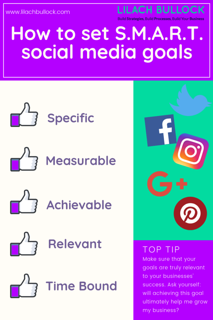 how to set social media goals