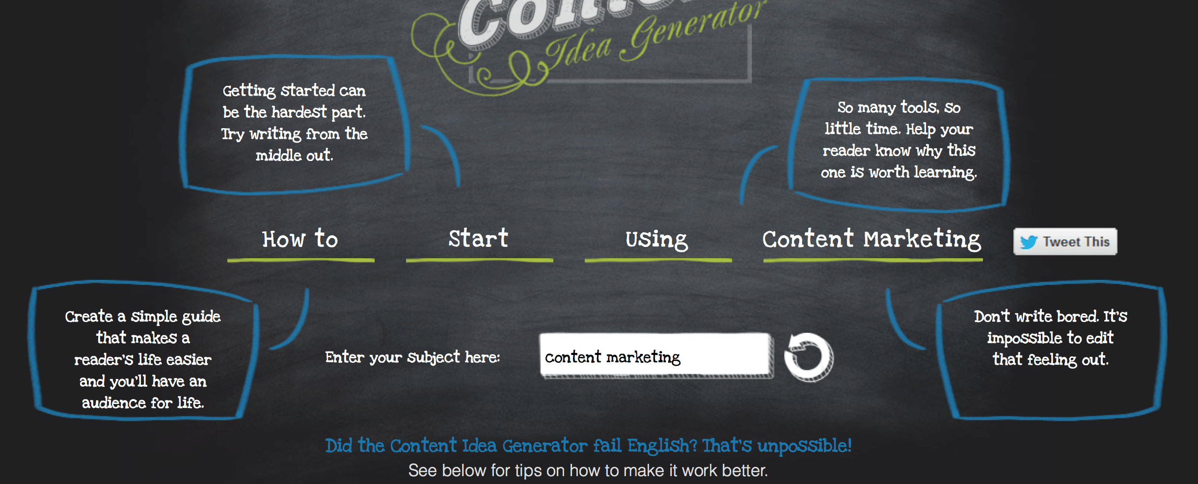 The ultimate list of content marketing tools writing for Portent headline generator
