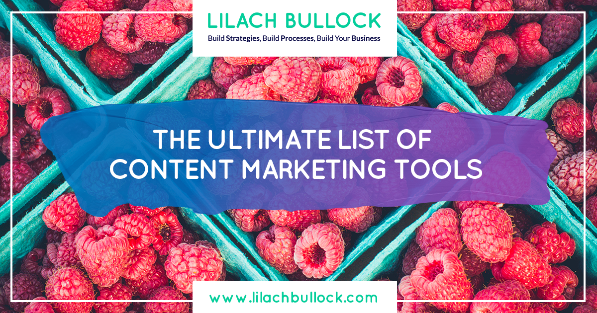 The ultimate list of content marketing tools - writing, planning & promoting