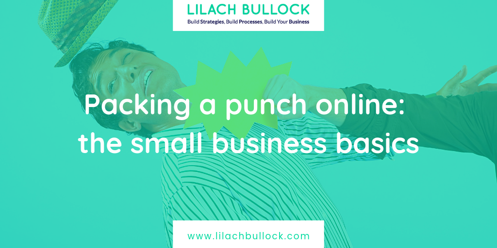 Packing a punch online: the small business basics