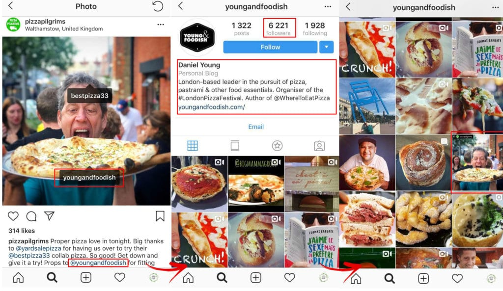 local business instagram example