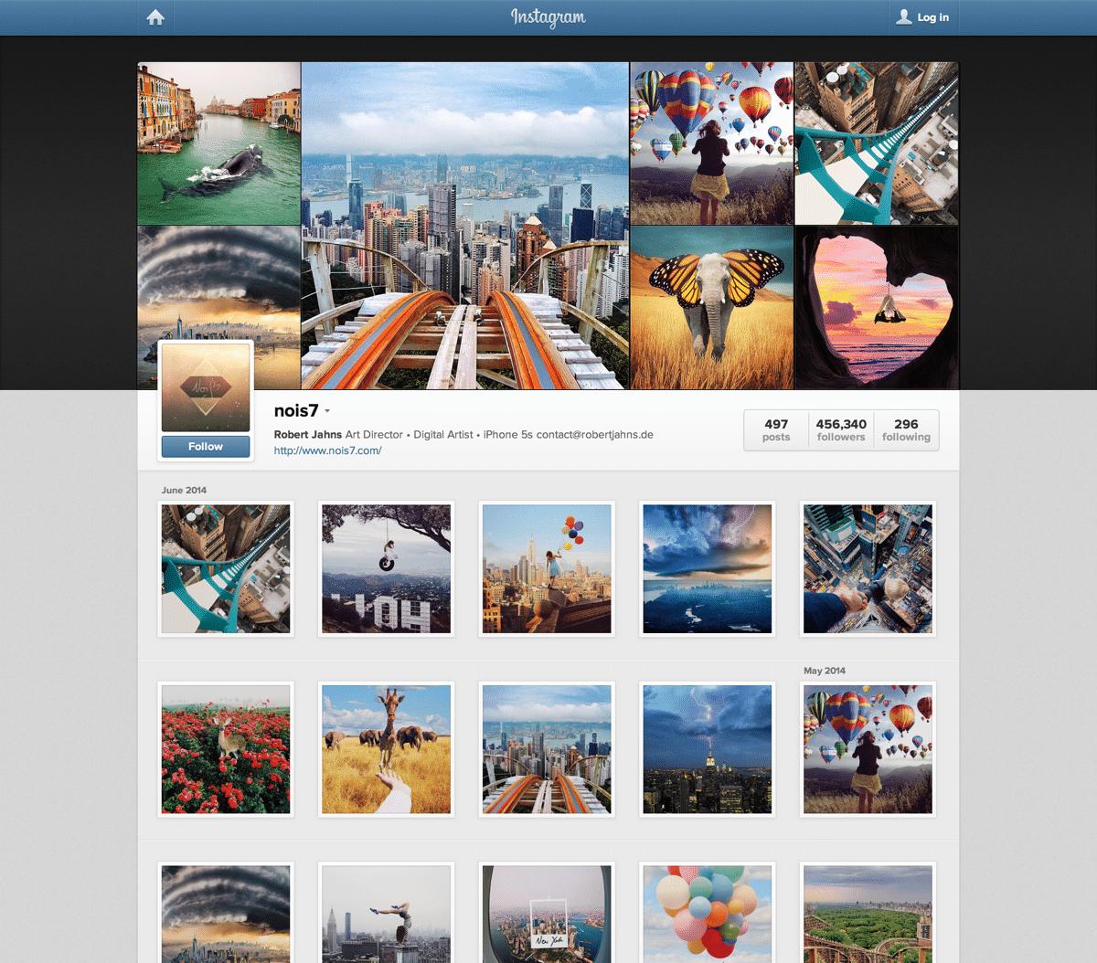 instagram influencer screenshot