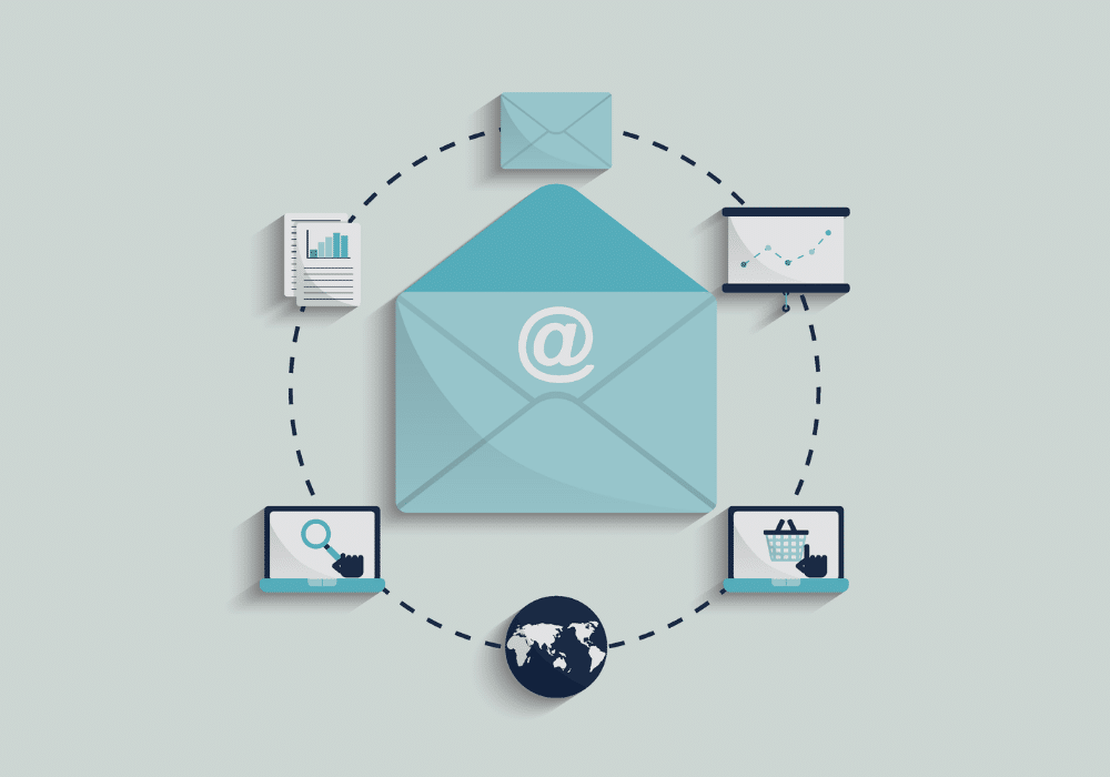 email marketing sales concept
