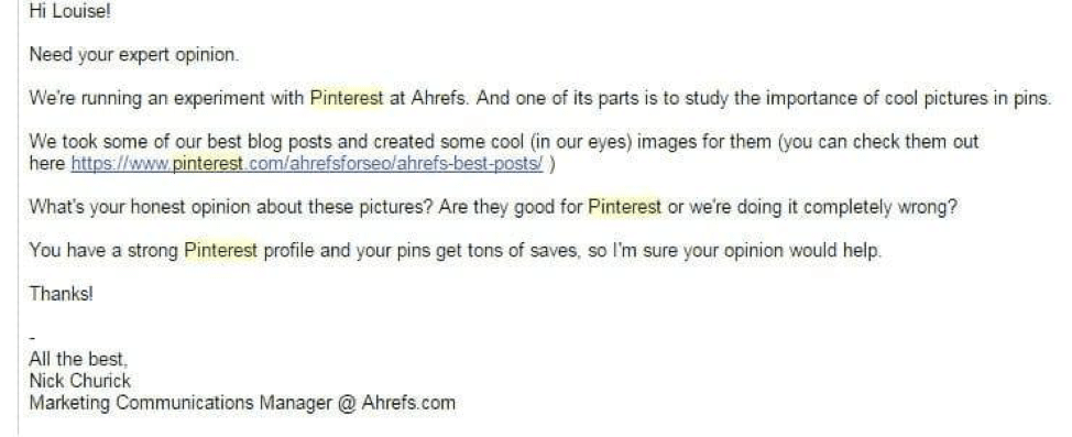 drive pinterest traffic example