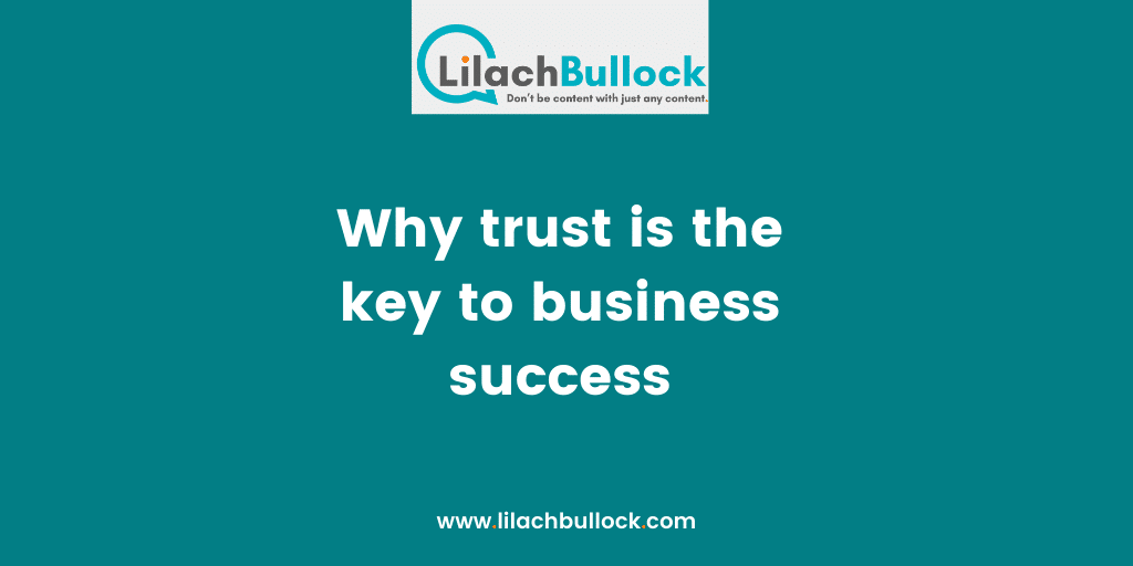 Why trust is the key to business success
