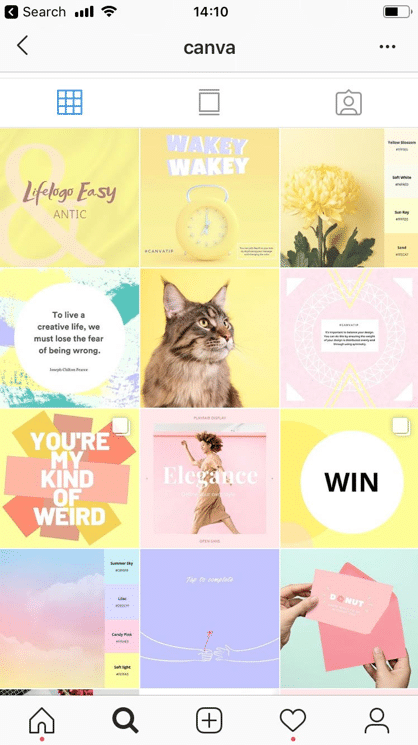 Instagram visual content strategy example