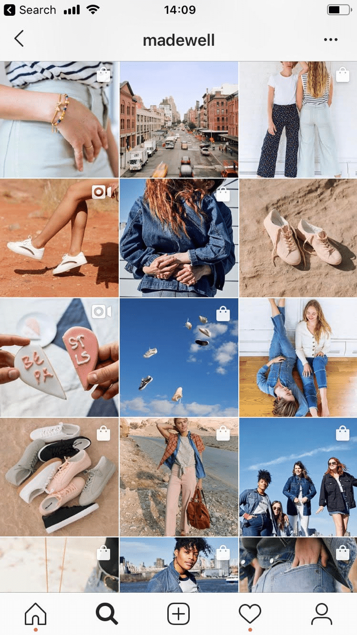 madewell instagram visual content strategy example
