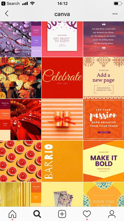 canva instagram example