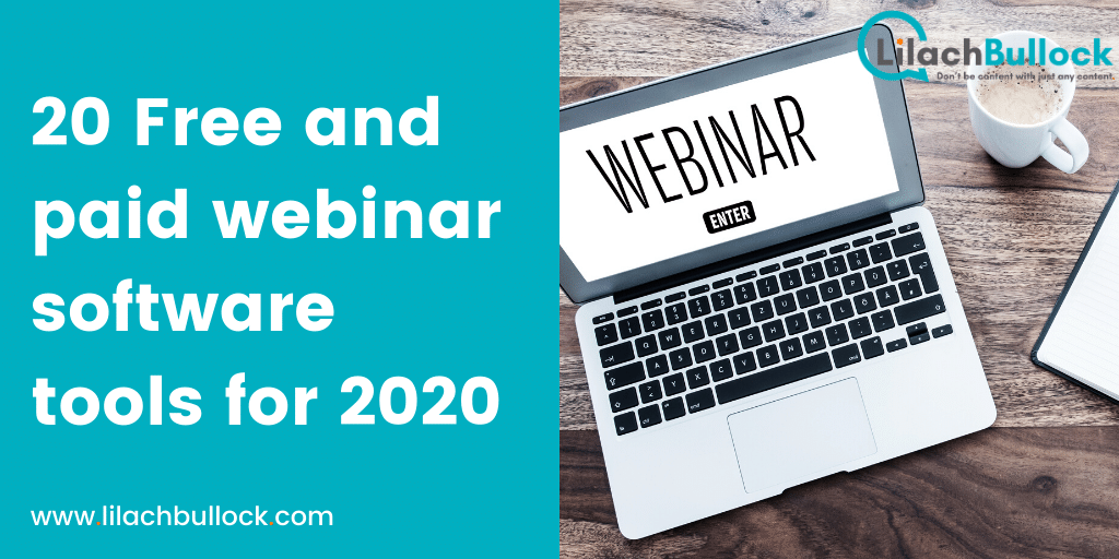 20 Free and paid webinar software tools for 2020