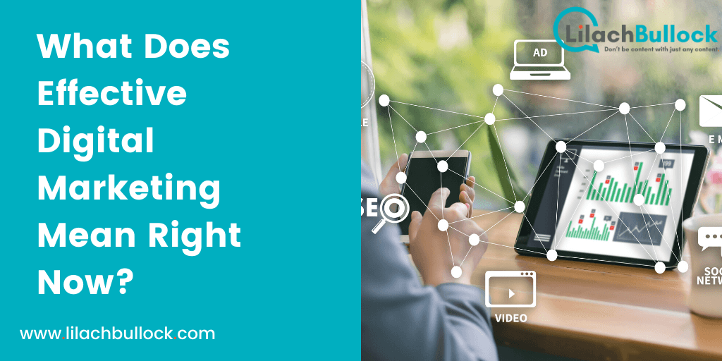 What Does Effective Digital Marketing Mean Right Now