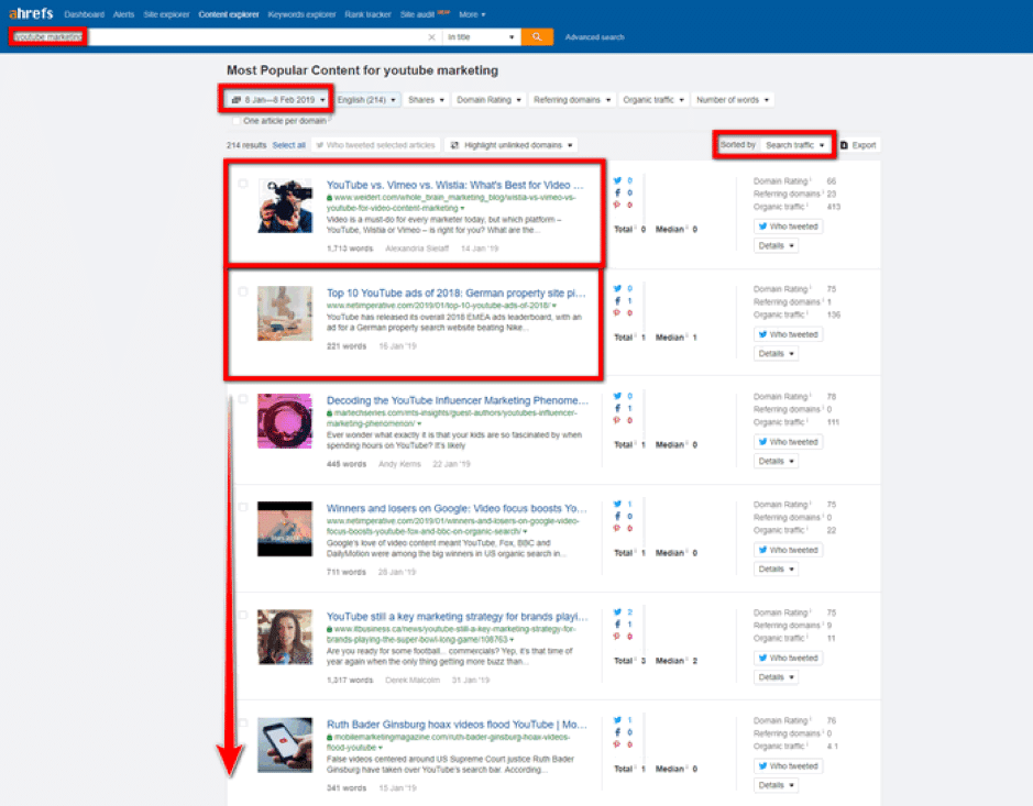 ahrefs seo screenshot
