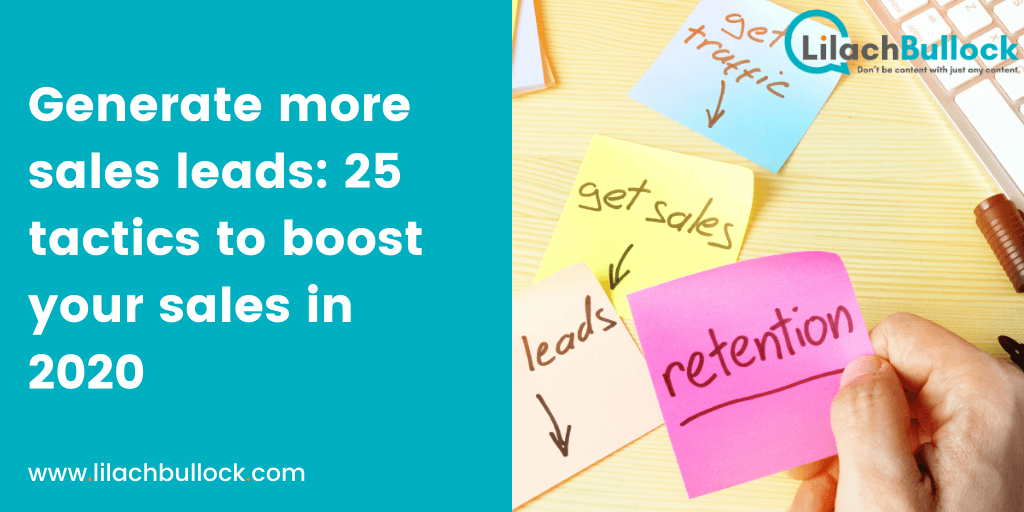 How to generate sales leads: The ultimate list of 25 tactics to boost your sales