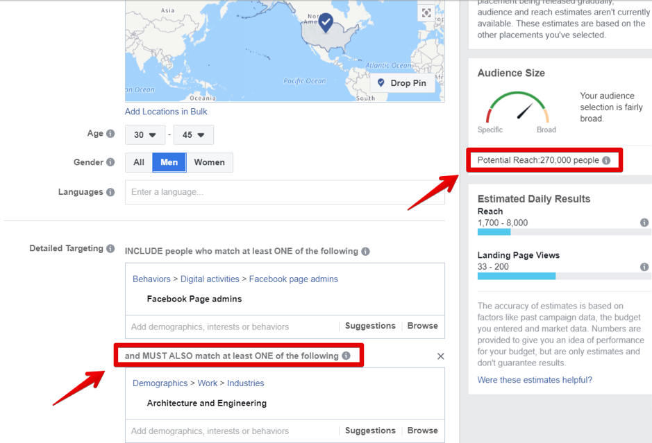Facebook targeting business owners