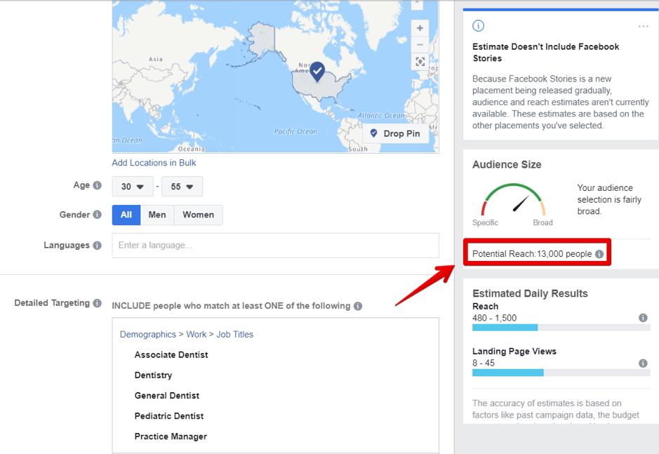 Facebook targeting job titles