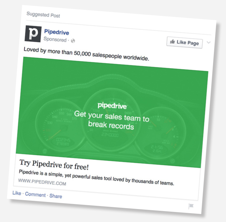 Pipedrive Ad Example