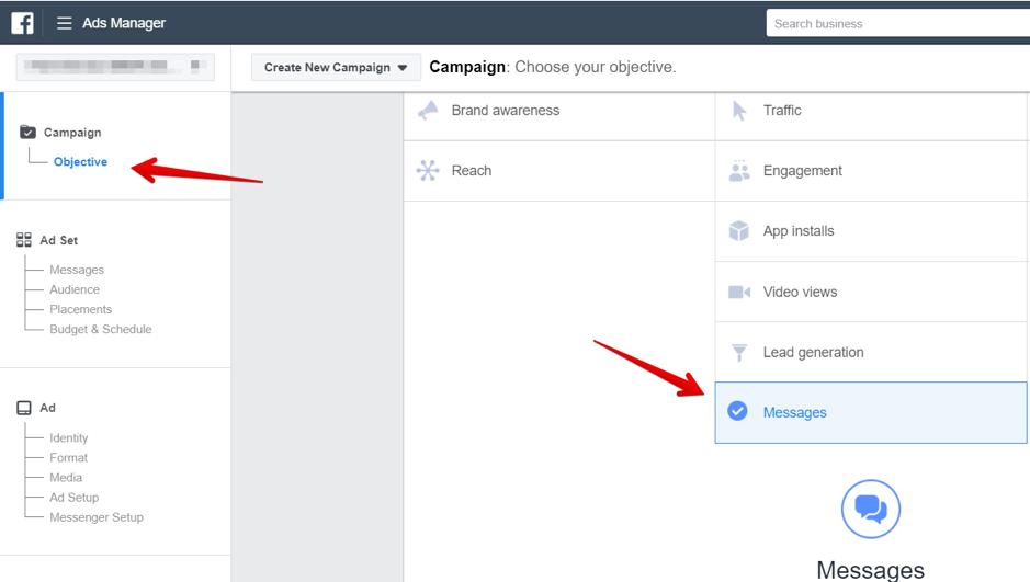 facebook campaign screenshot