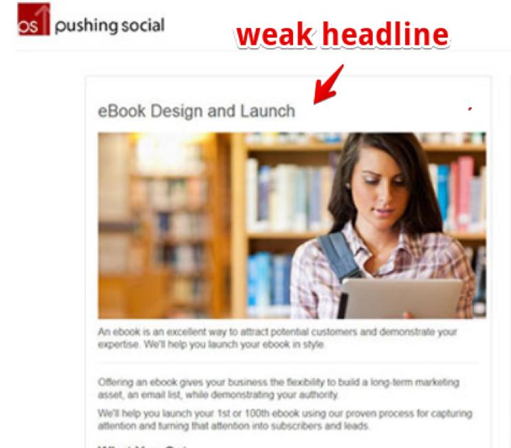 weak headline example