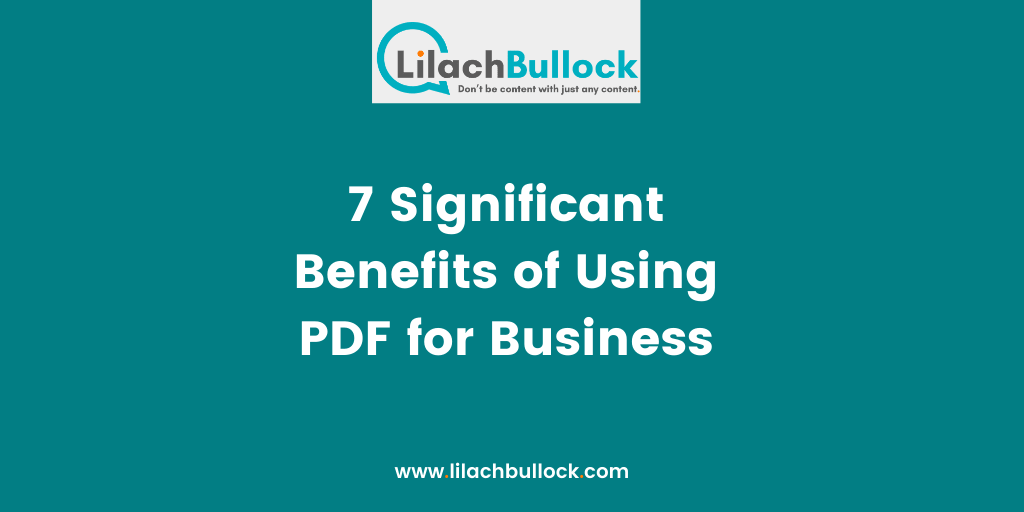 7 Significant Benefits of Using PDF for Business-min