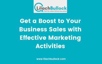 Get a Boost to Your Business Sales with Effective Marketing Activities