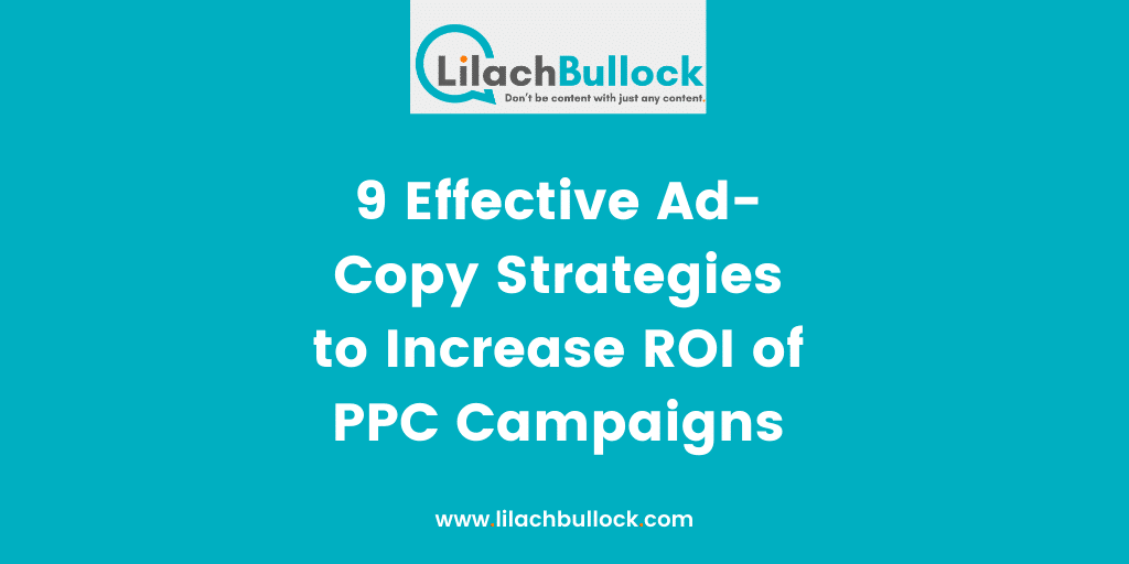 9 Effective Ad-Copy Strategies to Increase ROI of PPC Campaigns-min