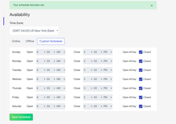 custom-schedule