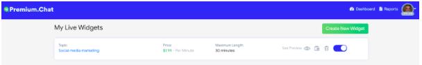premium chat live widgets