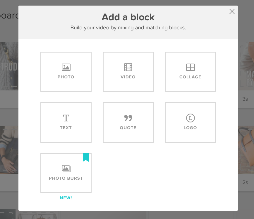 animoto adding blocks