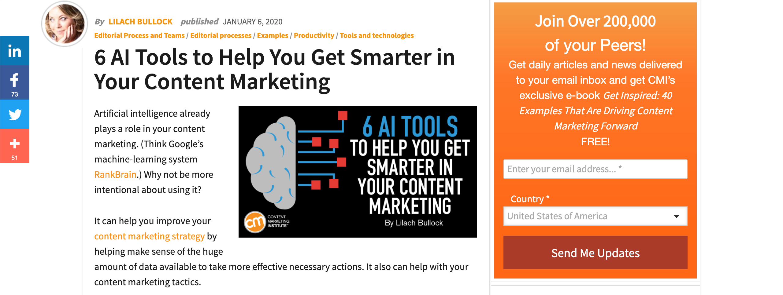 blog post content marketing institute