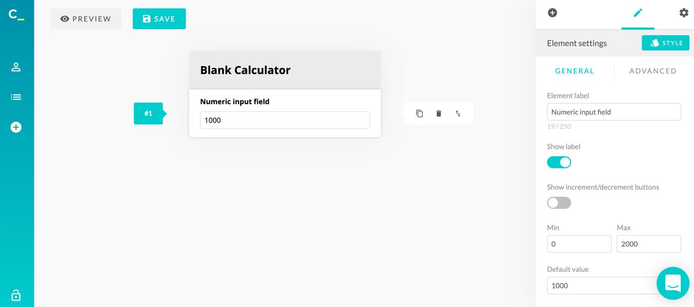 calconic calculator creation blank 2