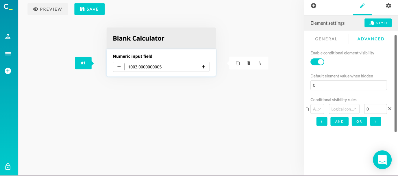 calconic calculator creation blank 3