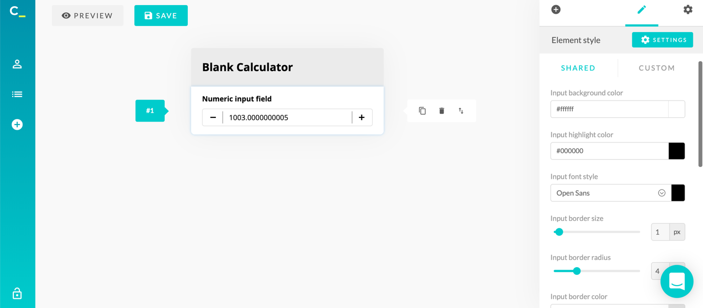 calconic calculator creation blank style