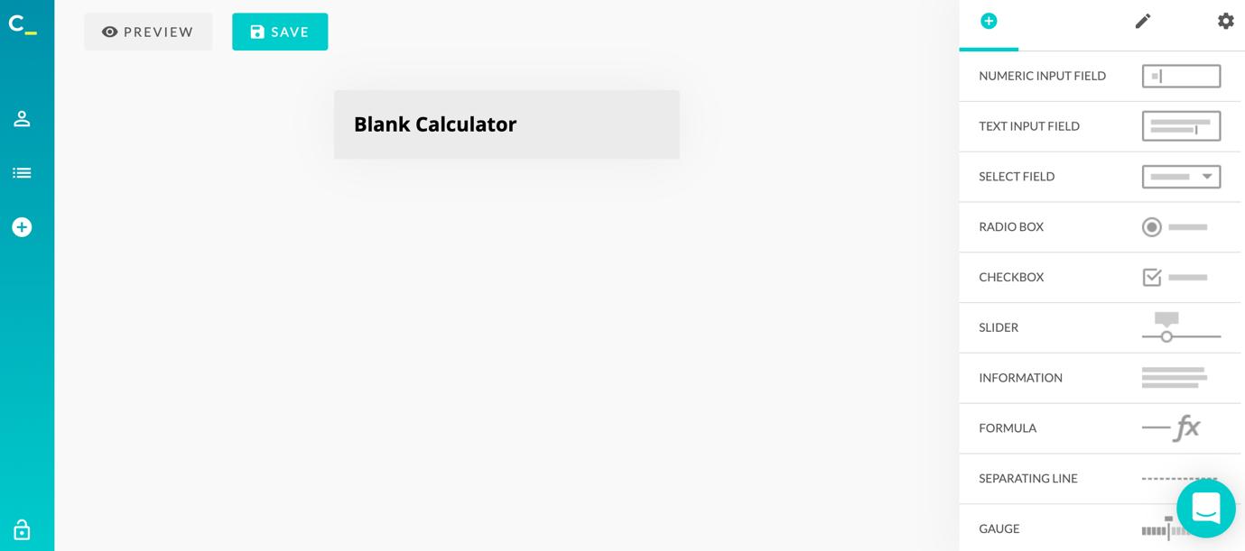 calconic calculator creation blank