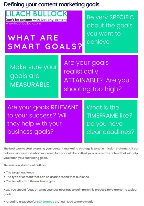 lilach bullock content marketing guide
