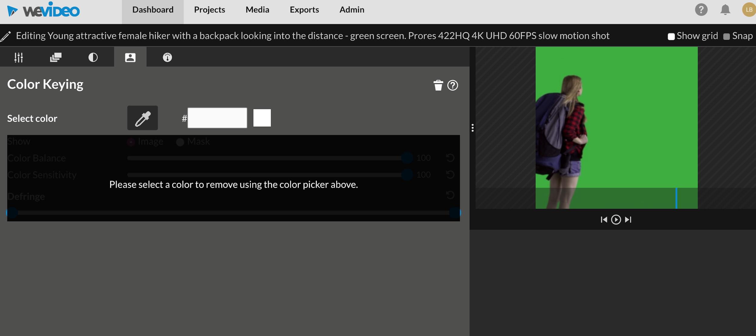 wevideo color keyring