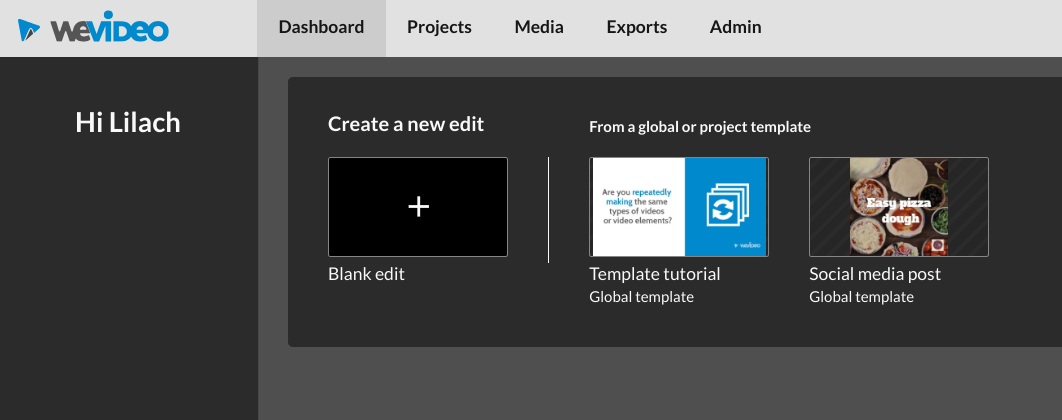wevideo create new edit