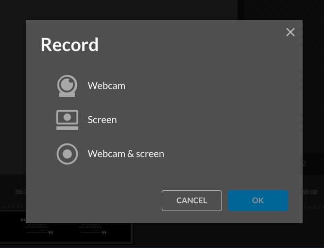 wevideo record