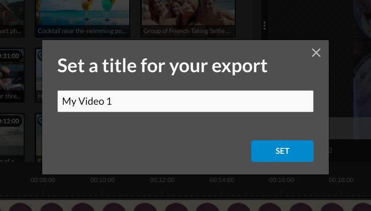 wevideo save title