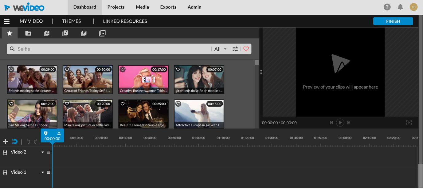 wevideo uploading media