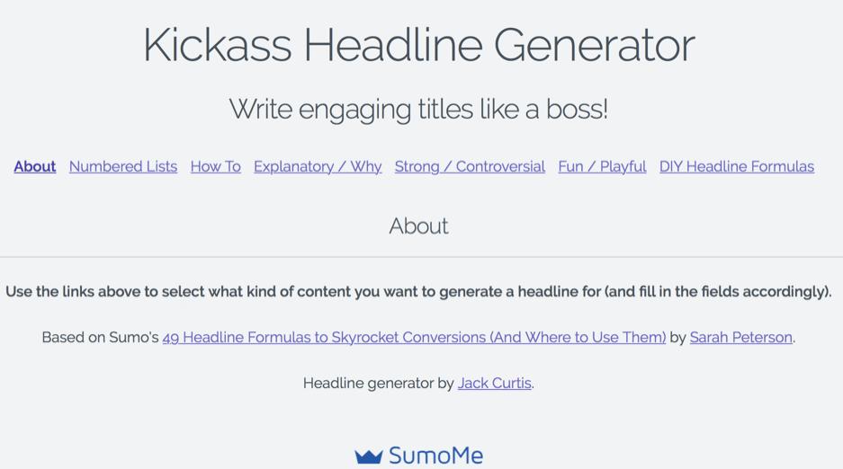 kickass headline generator