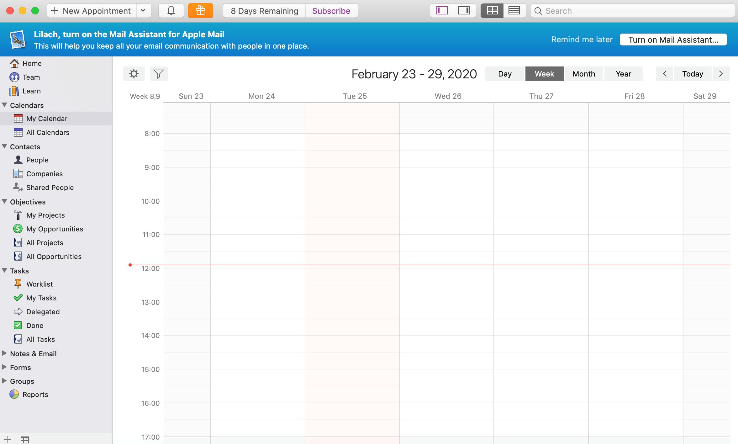 adding calendars daylite