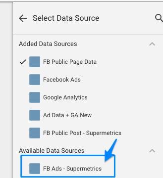 supermetrics data source