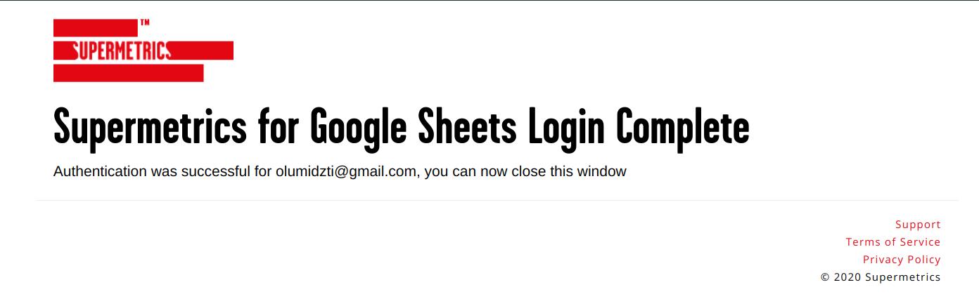 supermetrics for google sheets